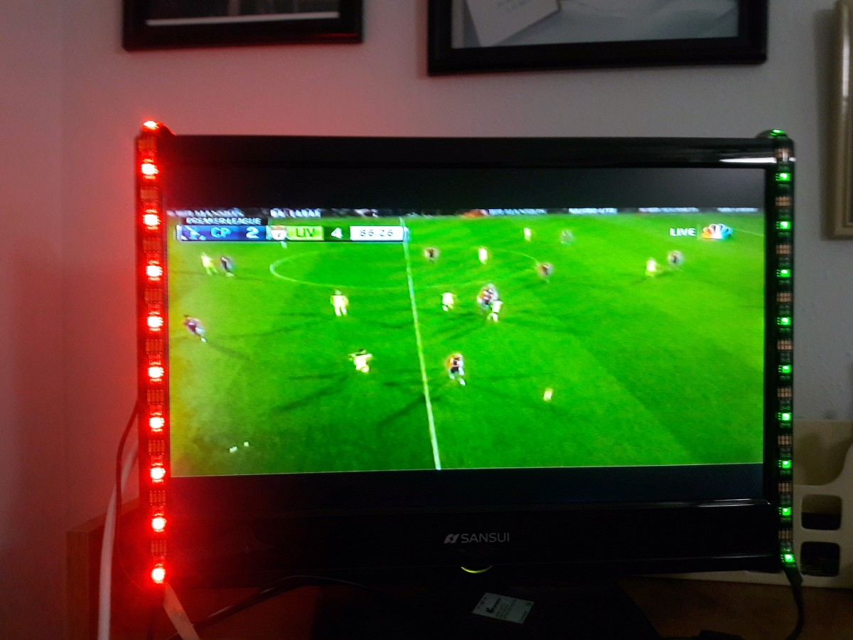 tv accent lighting. I Have Never Seen A Product Like This Before. Yes, Similar Lights That Go Around The House, Or Outside, But Not For Your Television. Tv Accent Lighting