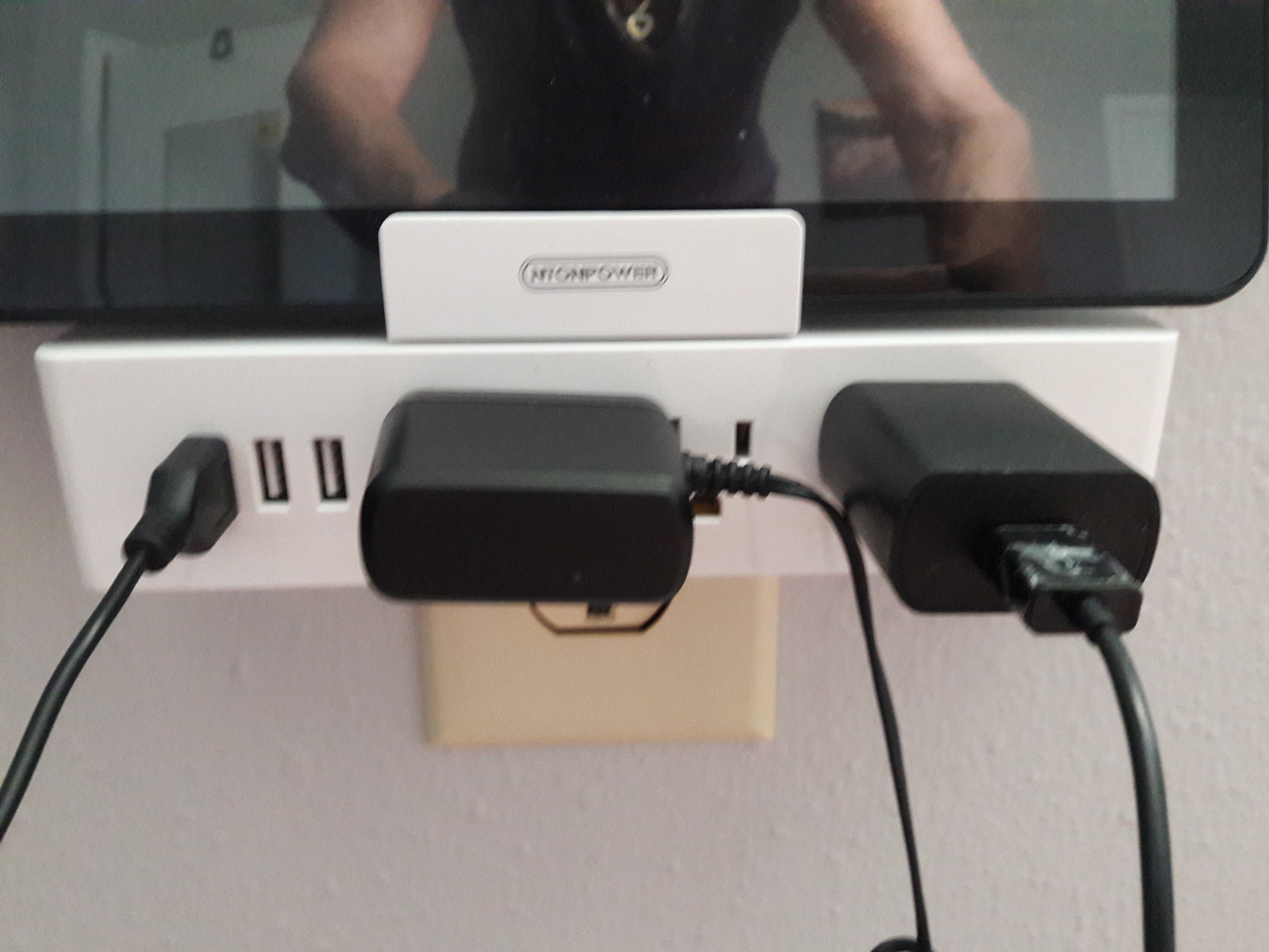 I Keep A Plugged In Power Strip Next To My Chair, So That I Can Have My  Phone, And Laptop Charged At All Times. My Husband Doesnu0027t So It Was Great  To ...