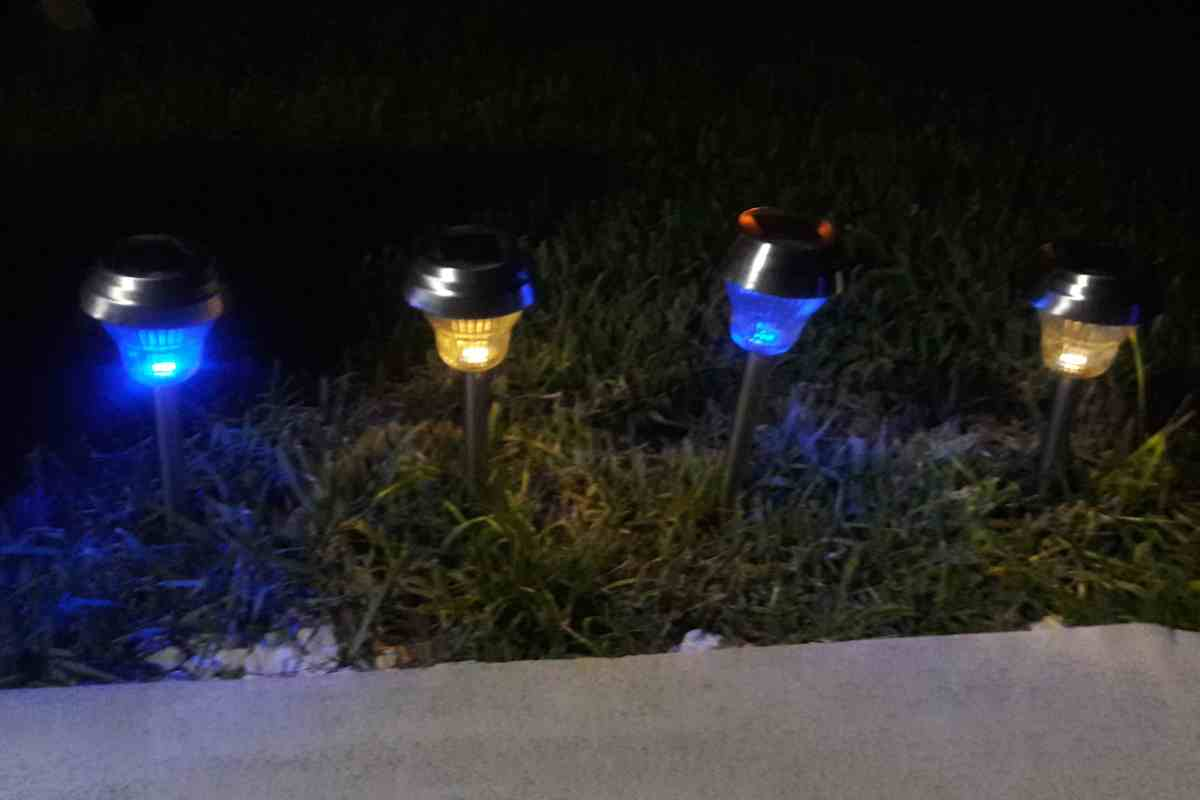 Sogrand solar lights bright 10 lumen white blue dual for Outside path lights