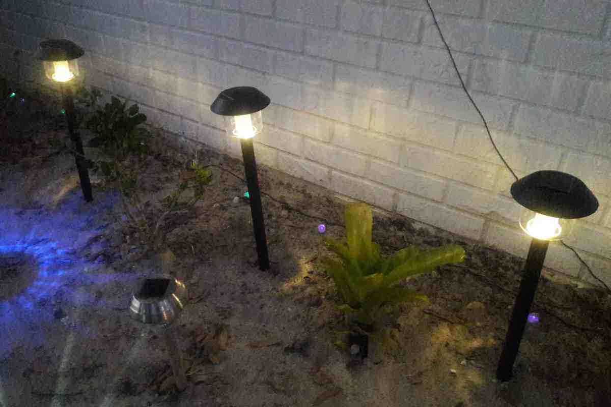 Sogrand solar lights outdoor christmas decorations pathway light the sogrand christmas solar lights with 15 lumen are really impressive in my front garden they have 3 pieces of pole which makes them higher than other arubaitofo Gallery